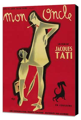 Mon Oncle - 27 x 40 Movie Poster - French Style A - Museum Wrapped Canvas