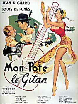 Mon pote le gitan - 11 x 17 Movie Poster - French Style A