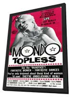 Mondo Topless - 11 x 17 Movie Poster - Style A - in Deluxe Wood Frame