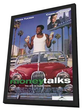 Money Talks - 11 x 17 Movie Poster - Style B - in Deluxe Wood Frame