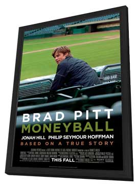Moneyball - 27 x 40 Movie Poster - Style B - in Deluxe Wood Frame