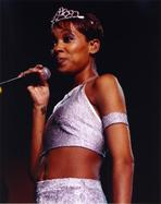 Monica - Monica Silver Top Holding Microphone
