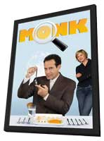 Monk - 11 x 17 TV Poster - Belgian Style A - in Deluxe Wood Frame