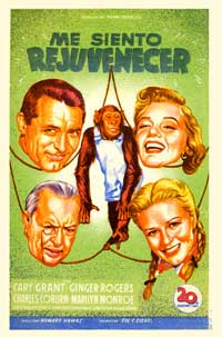 Monkey Business - 11 x 17 Movie Poster - French Style B