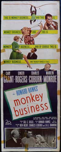Monkey Business - 14 x 36 Movie Poster - Insert Style A