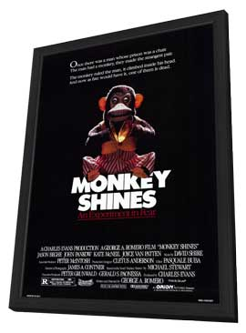 Monkey Shines - 11 x 17 Movie Poster - Style A - in Deluxe Wood Frame