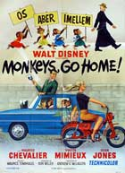 Monkeys, Go Home! - 11 x 17 Movie Poster - Danish Style A