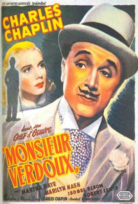 Monsieur Verdoux - 27 x 40 Movie Poster - French Style A