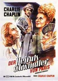 Monsieur Verdoux - 11 x 17 Movie Poster - German Style A