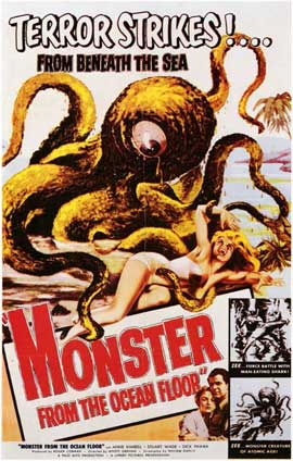 Monster From the Ocean Floor - 11 x 17 Movie Poster - Style A