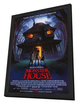 Monster House - 27 x 40 Movie Poster - Style A - in Deluxe Wood Frame