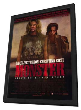 Monster - 27 x 40 Movie Poster - Style A - in Deluxe Wood Frame