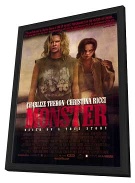 Monster - 11 x 17 Movie Poster - Style A - in Deluxe Wood Frame