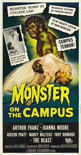 Monster on the Campus - 20 x 40 Movie Poster - Style B