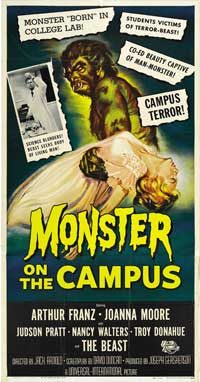 Monster on the Campus - 30 x 60 Movie Poster - Style A