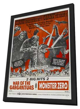 Monster Zero - 27 x 40 Movie Poster - Style A - in Deluxe Wood Frame