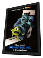 Monsters, Inc. - 27 x 40 Movie Poster - Style B - in Deluxe Wood Frame