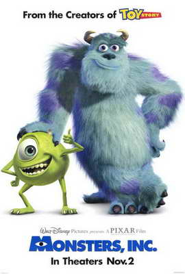 Monsters, Inc. - 27 x 40 Movie Poster - Style A