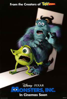 Monsters, Inc. - 27 x 40 Movie Poster - Style B