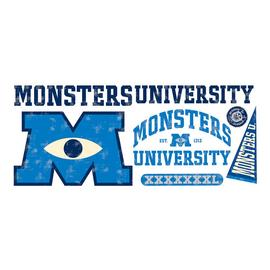 Monsters, Inc. - Monsters University Logo Giant Peel and Stick Wall Decal