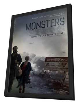 Monsters - 27 x 40 Movie Poster - Style A - in Deluxe Wood Frame