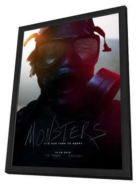 Monsters - 11 x 17 Movie Poster - Style B - in Deluxe Wood Frame