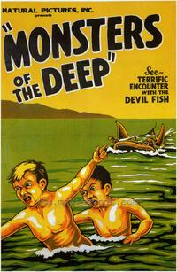 Monsters of the Deep - 43 x 62 Movie Poster - Bus Shelter Style A