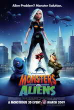 Monsters vs. Aliens - 27 x 40 Movie Poster - Style C