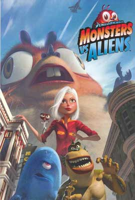 Monsters vs. Aliens - 27 x 40 Movie Poster - Style A