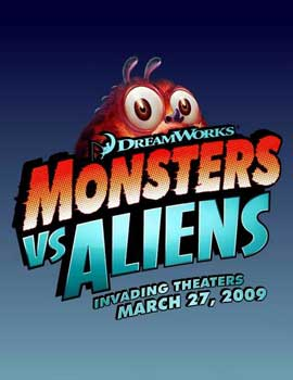 Monsters vs. Aliens - 11 x 17 Movie Poster - Style B