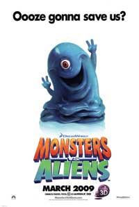 Monsters vs. Aliens - 27 x 40 Movie Poster - Style B
