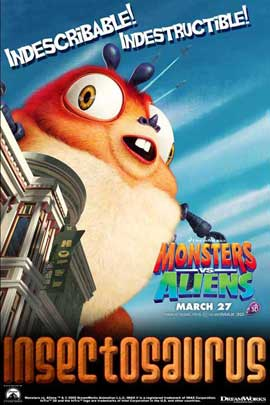 Monsters vs. Aliens - 11 x 17 Movie Poster - Style F