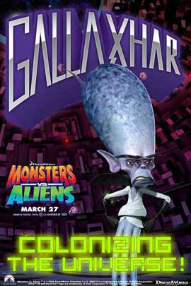 Monsters vs. Aliens - 11 x 17 Movie Poster - Style G
