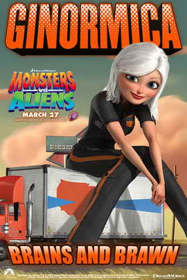 Monsters vs. Aliens - 11 x 17 Movie Poster - Style J