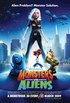Monsters vs. Aliens - 11 x 17 Movie Poster - Style M