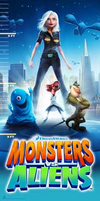 Monsters vs. Aliens - 24 x 48 Movie Poster - Style A