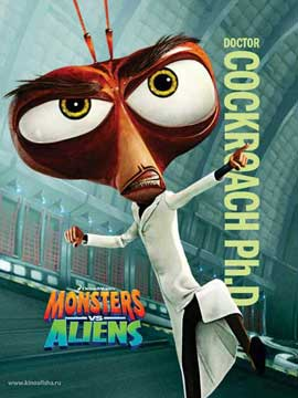 Monsters vs. Aliens - 11 x 17 Movie Poster - Style S