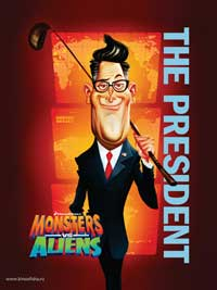 Monsters vs. Aliens - 11 x 17 Movie Poster - Style T