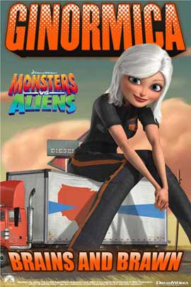 Monsters vs. Aliens - 11 x 17 Movie Poster - UK Style G