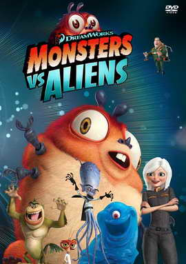Monsters vs. Aliens - 27 x 40 Movie Poster - Style U