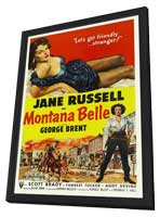 Montana Belle - 11 x 17 Movie Poster - Style B - in Deluxe Wood Frame