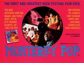 Monterey Pop - 30 x 40 Movie Poster - Style A