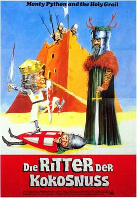 Monty Python and the Holy Grail - 11 x 17 Movie Poster - German Style A