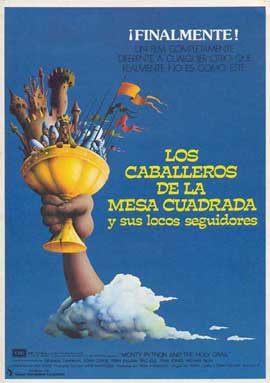 Monty Python and the Holy Grail - 11 x 17 Movie Poster - Spanish Style A