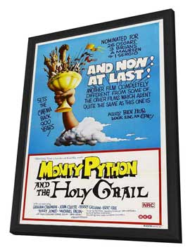 Monty Python and the Holy Grail - 11 x 17 Movie Poster - Australian Style A - in Deluxe Wood Frame