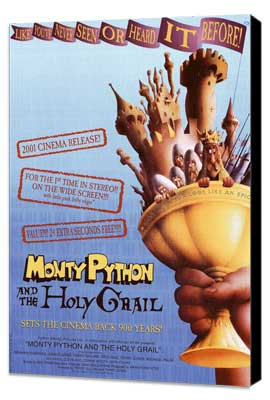 Monty Python and the Holy Grail - 11 x 17 Movie Poster - Style A - Museum Wrapped Canvas