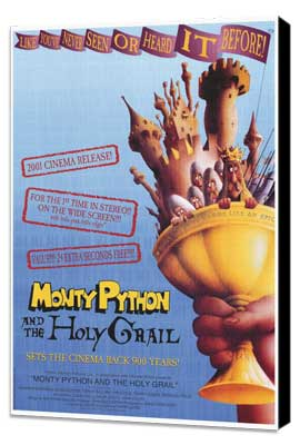 Monty Python and the Holy Grail - 27 x 40 Movie Poster - Style A - Museum Wrapped Canvas