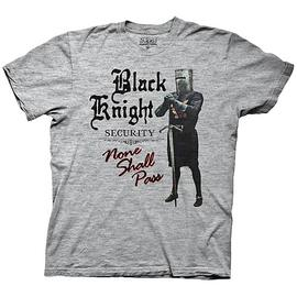 Monty Python and the Holy Grail - Black Knight Security None Shall Pass T-Shirt