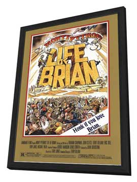 Monty Python's Life of Brian - 11 x 17 Movie Poster - Style A - in Deluxe Wood Frame