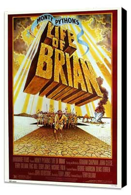 Monty Python's Life of Brian - 11 x 17 Movie Poster - Style E - Museum Wrapped Canvas